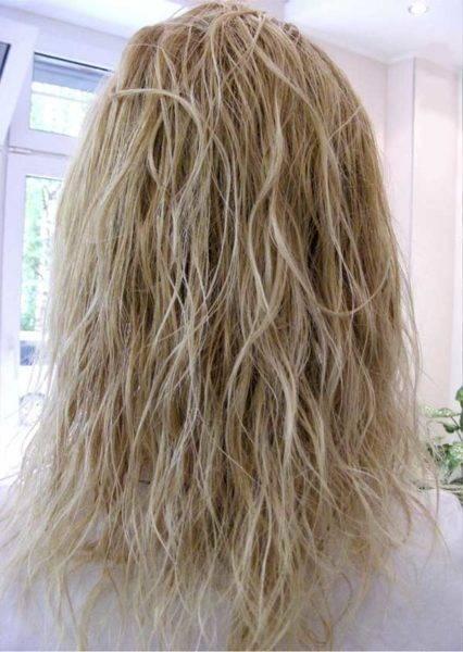Уход за блондированными волосами