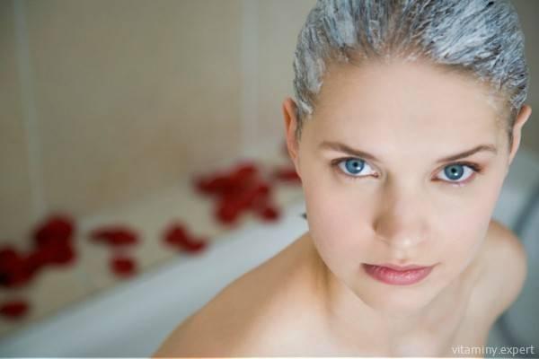 Маска для волос с кефиром и витамином Д