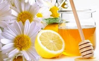 Ромашка, мед и лимон для маски