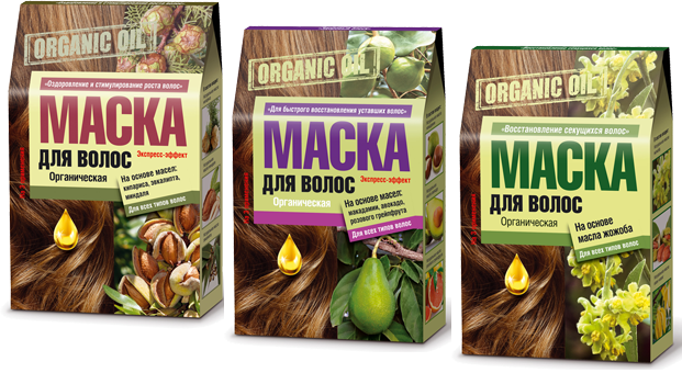 Маски «Organic Oil» очень быстро останавливают выпадение волос и эффективно стимулируют их здоровый рост