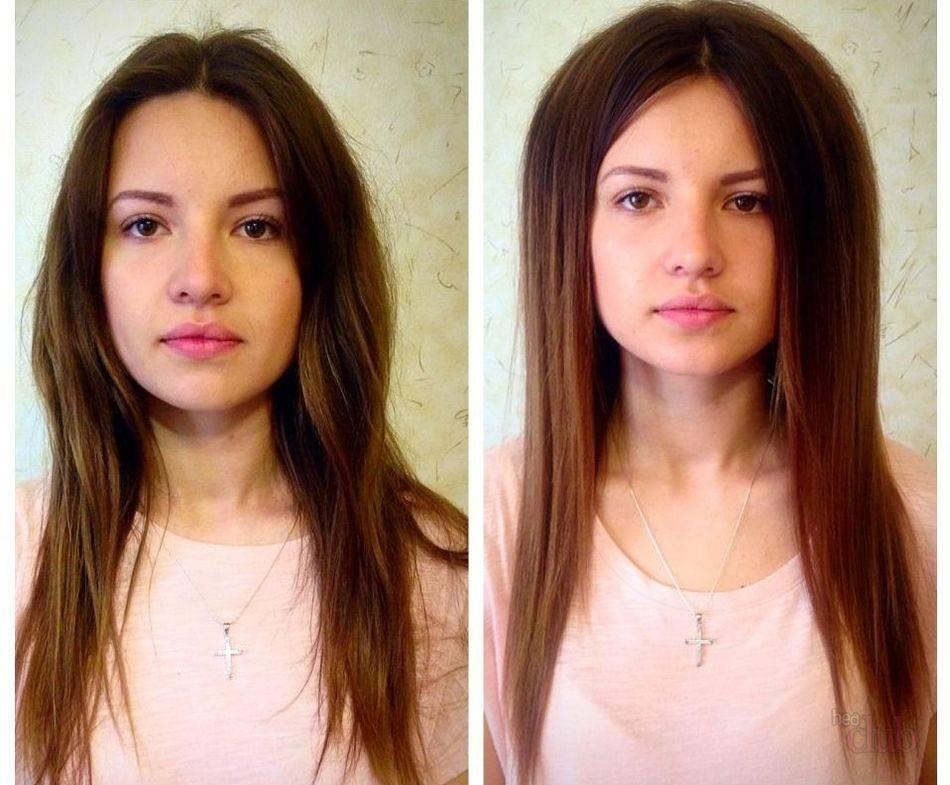 Флисинг прикорневой объем технология: фото до и после