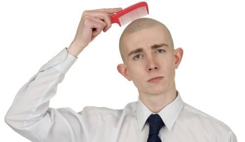 Волосы на лысине