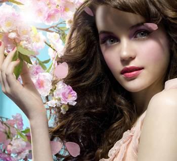 Волосы и цветы