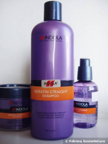 Выпрямление волос с Indola Professional Keratin Straight